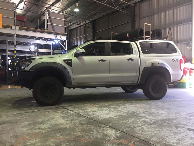 4 by 4 lift kit after installation