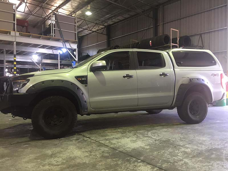 Before a 4x4 lift kit is installed